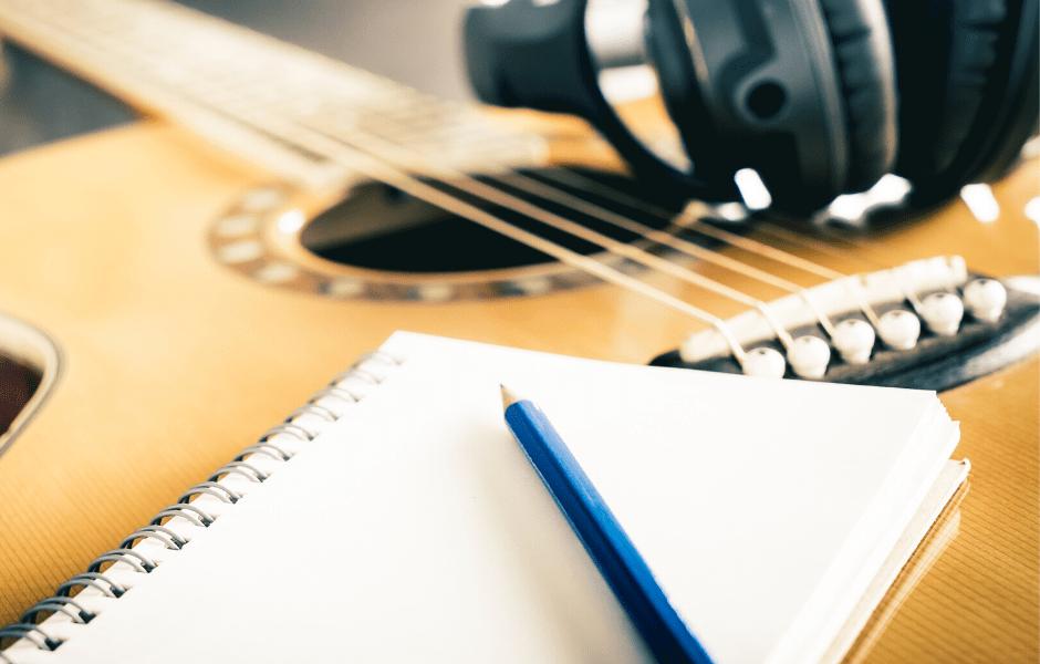guitar and paper